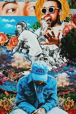"Mac Miller Collage poster wall art home decor photo print 24"" x 36"""