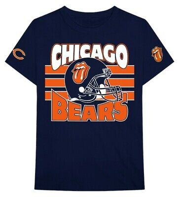 Official Rolling Stones Chicago Bears XL T-shirt June 21 2019 Navy Blue NFL