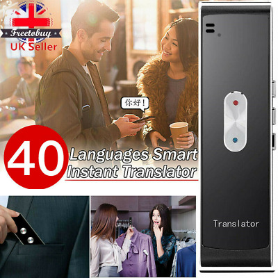 UK T8S Smart Voice Translator Portable Two-Way Real Time Multi-Language HOT SALE
