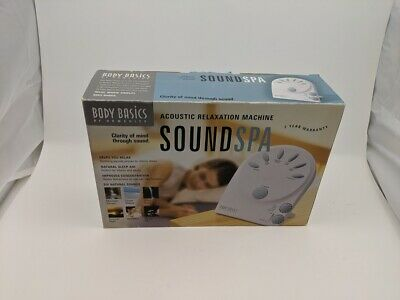 Homedics Body Basic Sound Spa 6 Natural Sounds Acoustic Relaxation Machine