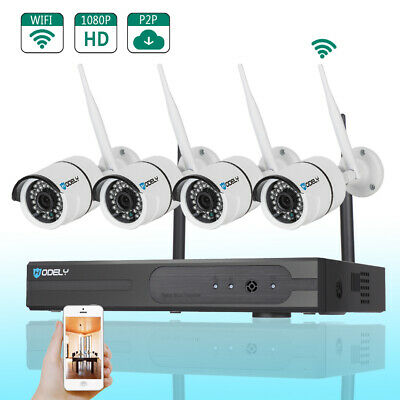 Wireless 8CH 1080P NVR 4 720P 1500TVL IR-CUT WIFI Camera Home Security System US