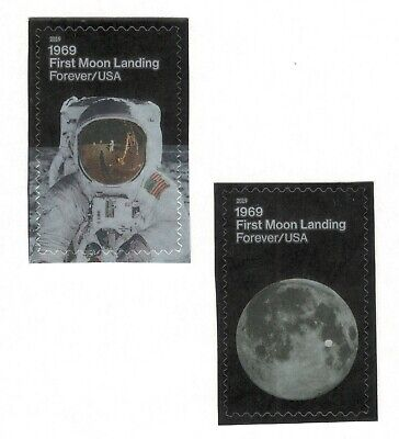 5399-5400 First Moon Landing US Postage Set Of 2 Mint/nh Delivery Around 7/25