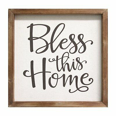 """Lord Bless This Home Tin Metal Wall Plaque Ornate Accents Curls Rustic 21.5x18/"""""""