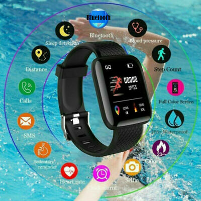 Bluetooth Smart Watch Heart Rate Blood Pressure Sport Fitness Tracker Yan