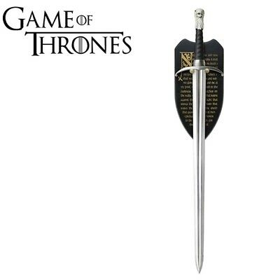 """Game of Thrones """"LongClaw"""" Sword of Jon Snow HBO Version Replica With Plaque"""