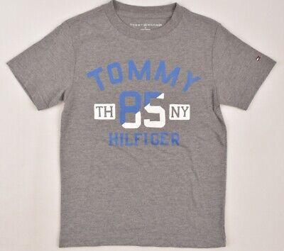 TOMMY HILFIGER Boys' Kids' Front Print T-shirt, Grey Heather, sizes 5 6 years