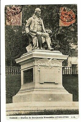 CPA - Carte postale - FRANCE-Paris Statue de Benjamin Franklin -VM3726