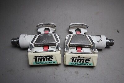 TIME Equipe Magnesium Bioperformance Pro Racing Pedals / '90ies / 391g / white