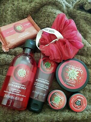 THE BODY SHOP Strawberry Range Job Lot - 7 Items All Brand New