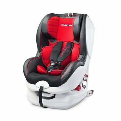 CARETERO Siège auto bébé Isofix et Top-tether Inclinable Gr.0+/1 - Rouge