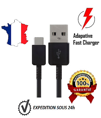 [Lot 2] Cable Usb Type-C Chargeur Pour Samsung Galaxy S8 S9 Plus Note 8 Syncr 1M