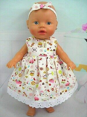 "Dolls clothes~13"" Little Baby Born~Baby Alive Doll~LOLLY JAR / FRUIT DRESS SET"