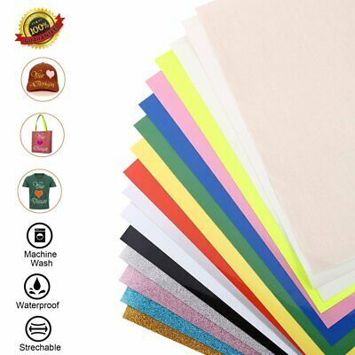 Heat Transfer Vinyl 15 Sheets 12''x 10'' Heat Transfer Bundle Iron on HTV BP