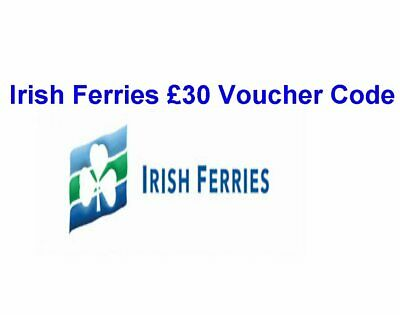 Irish Ferries £30 Discount Voucher Code. Valid till 10th December 2019