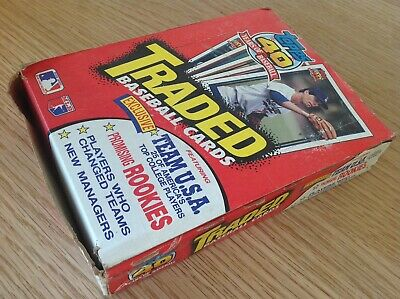 UNOPENED Box 1991 Topps Traded Major League Baseball Bubble Gum / Trading Cards