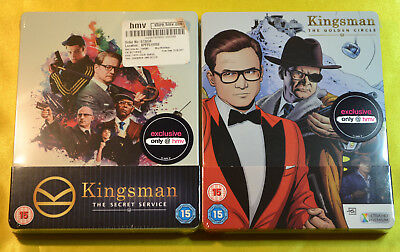 Kingsman The Secret Service Steelbook & The Golden Circle 4K Steelbook UK New