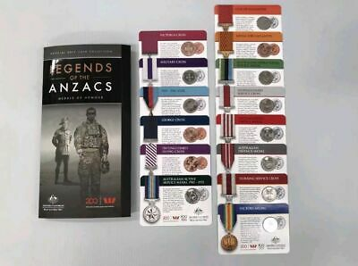 2017 Legends of the Anzacs Medals of Honour Full Collection in Folder 14 Coins