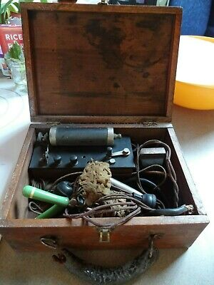 Antique Electroshock Therapy Quack Medical Device Jefferson Wizard Green Cream