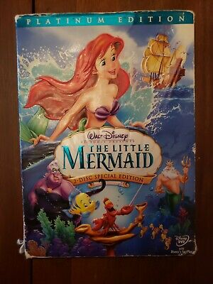 The Little Mermaid (DVD & Case, 2006, 2-Disc Set, Platinum Edition) Disney Used