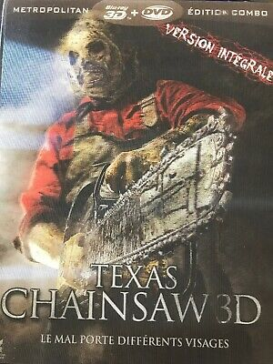 Blu Ray 3D + 2D + DVD : Texas Chainsaw 3D + Version 2D