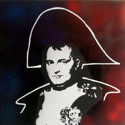 Napoleon bonaparte TABLEAU pop street art graffiti PyB french painting signed