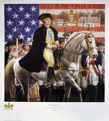 THE HOMECOMING - GEORGE WASHINGTON AT FREDERICKSBURG limited art print by GNATEK