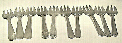 """10 Silver Plate Dessert Forks """"EALES"""" 1779 Sheffield England/Italy    FREE SHIP"""