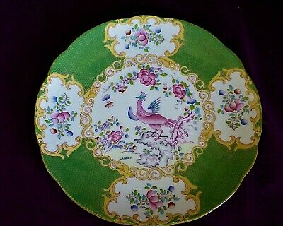 Minton Green Cockatrice Phoenix 4863  Antique Plate 22.5cm Free UK P&P