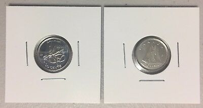 CANADA 2017 New 2 x 10 cents 100% FULL Kit (UNC directly From mint roll)