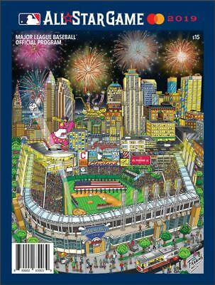 2019 Mlb All Star Game Program Official Fazzino Art Version Cleveland Indians