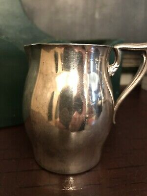 """Vintage Paul Revere Style Silver Plate CREAMER Pitcher 3 1/2"""""""