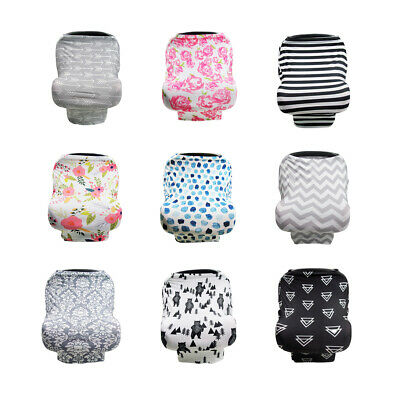 Nursing Breastfeeding Feeding Cover Scarf Baby Car Seat Canopy Apron Breathable