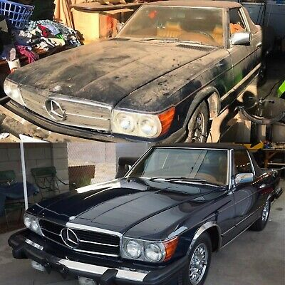 1977 Mercedes-Benz SL-Class 450SL 15k-Mile Roadster Two Top Convertible