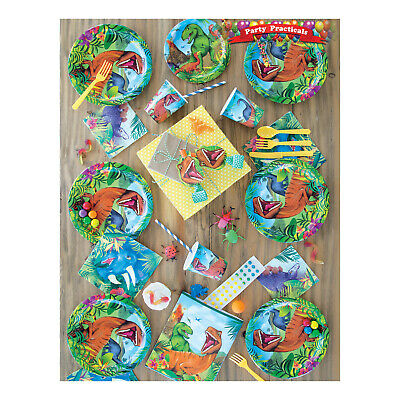 DINOSAUR Jurassic Birthday Party - Tableware cups plates napkins tablecover