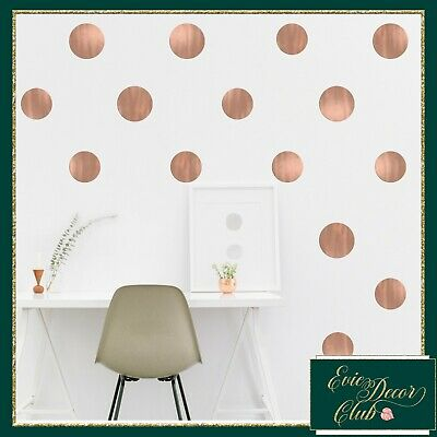 Polka Dots Wall Stickers ROSE GOLD Decal Child Vinyl Decor Spots  Baby Nursery