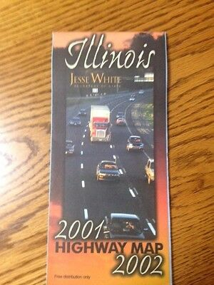 2001-2002 Illinois State-Issued Official Highway Road Map