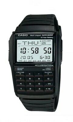 Casio Men Digital Multilingual Databank Calculator Alarm Watch DBC-32-1ADF New