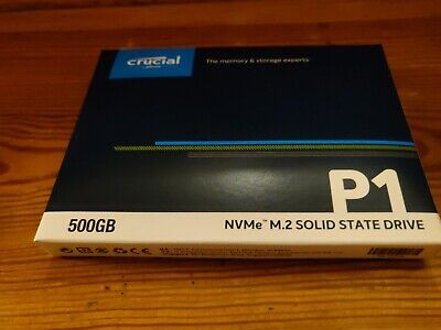 Crucial Technology 500GB P1 3D NAND NVMe PCIe M.2 SSD #CT500P1SSD8