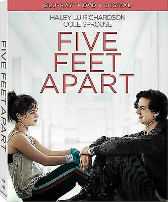 Five Feet Apart w/Slipcover (Blu-Ray, DVD, Digital, 2018) NEW