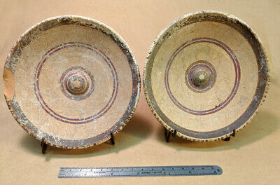 2 ETRUSCAN plates/Dishes  - Over 2000 years old (500BC) Tarquinia, Italy