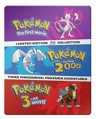 Pokemon: 1-3 Movie Collection Limited Edition Steelbook Blu-ray (2016) BRAND NEW