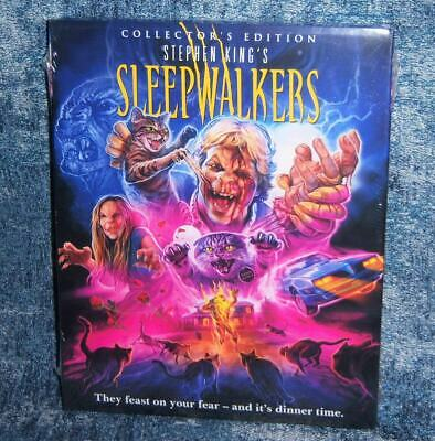New Scream Factory Stephen King Sleepwalkers Blu Ray Ce Movie 1992 & Slipcover