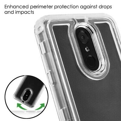 For LG Stylo 4 / Stylo 4 Plus - Transparent Clear Heavy Duty Hybrid Case Cover