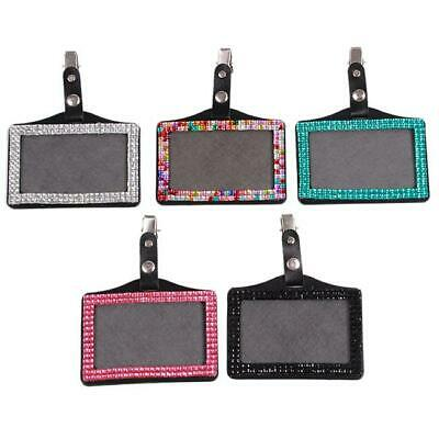 Horizontal ID Tage Rhinestone Card Cover Card Badge Holder Business Clip SS3