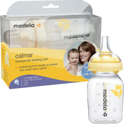 MEDELA 6YFYzq1 1 EA Calma Breastmilk Feeding Set with 5 oz Bottle 68021