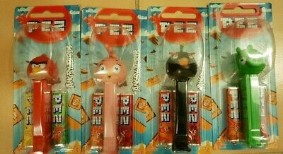 Angry Bird Pez Dispensers x 4 Bomb, Red, Stella & Pig New in packet