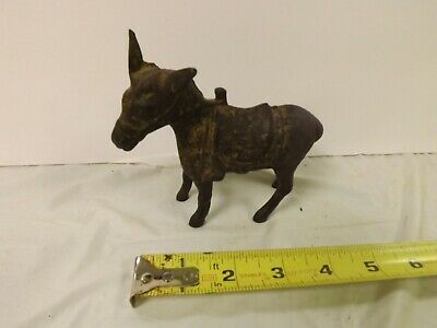 Vintage Cast Iron Donkey Burro Mule Animal Still Piggy Bank