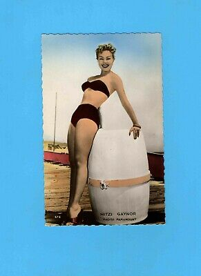 ► MITZI GAYNOR  - CP - CARTE POSTALE - PHOTO - TBE - ( Paramount 1955 )