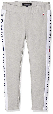 TOMMY HILFIGER Girls' Brand Logo Soft Leggings, Grey Heather, size 16 years