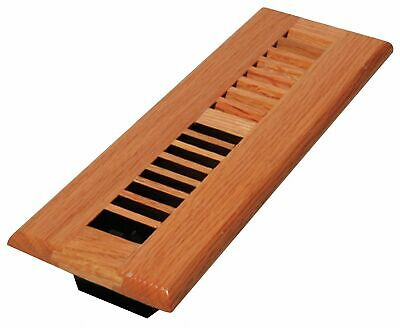 Decor Grates Baseboard Register,  2x10,  Laquered Natural,  9-31/32 Max. Duct